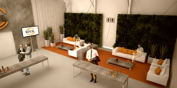 lounge parede vegetal